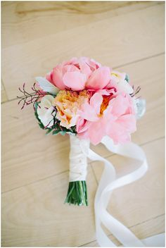 Soft bouquet via One Hitched Lane