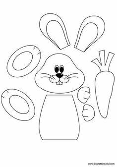 Easter Preschool Worksheets – Best Coloring Pages For Kids - Ostern Bunny Crafts, Easter Crafts For Kids, Craft Kids, Easter Ideas, Spring Crafts, Holiday Crafts, Easter Colouring, Kids Coloring, Easter Art