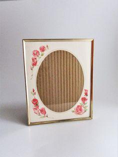 Vintage Frame Metal Gold Tone Intercraft 1982 Rose Matte Etched Beaded Design 8 x 10 Picture Frame Tabletop 10 Picture, Picture Frames, Vintage Photo Frames, Watercolor Design, Pink Roses, Tabletop, Metal, Interior, Prints