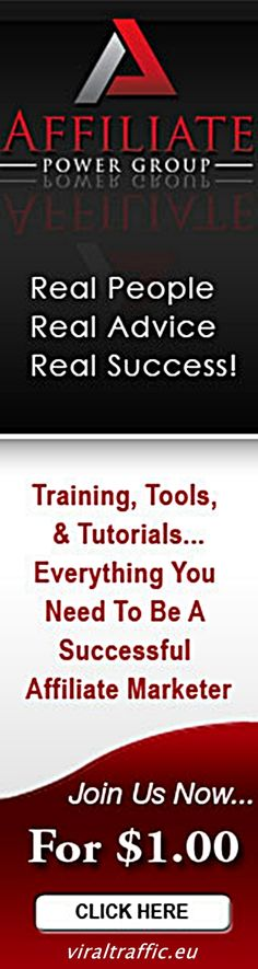Step by Step Affiliate Marketing Training for $1 http://viraltraffic.eu/step-by-step-affiliate-marketing-training-for-1/ The Affiliate Power Group (APG for short) is an online training group aimed at both newbies who want to start making money online and more experienced website owners who need help getting more traffic and sales. #affiliate #marketing #training