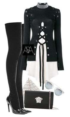"""""""Untitled #390"""" by ana-astylist ❤ liked on Polyvore featuring Judith Leiber, Versace, Balenciaga, Proenza Schouler and Christian Dior"""
