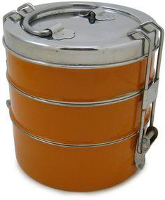 Orange 3-tier Tiffin Box