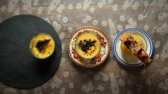 Une recette de garniture de boudin et de maquereau, crème de patate douce, présentée sur Zeste et Zeste.tv.