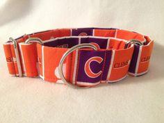Clemson University Martingale or Quick Release Collar