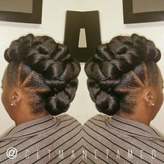 Faux hawk/ faux bun/ mohawk. Protective style. Follow me on instagram @getmanetamed