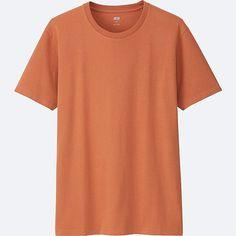 T-Shirt En Coton Supima Col Rond Manches Courtes HOMME