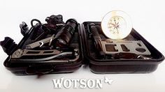 WOTSON Emergency Survival Kit – All In 1 - Professional Outdoor Tool gear. Your Companion for Traveling, Hiking, Climbing, Hunting & in the car - Fire Starter, Knife, Flashlights, Tactical Pen and... For product info go to:  https://all4hiking.com/products/wotson-emergency-survival-kit-all-in-1-professional-outdoor-tool-gear-your-companion-for-traveling-hiking-climbing-hunting-in-the-car-fire-starter-knife-flashlights-tactical/