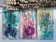 Mixed media Nature Tags with Arists Live