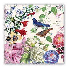 Nature NAPKINS, Floral Napkins, Nature Art Napkins, Bird Napkins, Michel Design Napkins, Decoupage Napkins, Garden Party Napkins by PaperNapkinsShop on Etsy