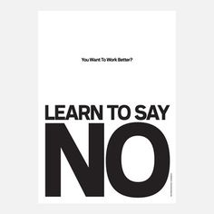 Learn To Say No Poster , 24€, now featured on Fab.