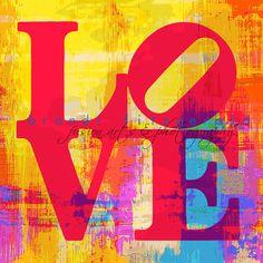 Love Five 5 x 5  Fusion Paintographic Fine Art by BrandiFitzgerald, $10.00