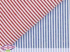 Stoff mit Streifen beidseitig rot / blau -Struktur von Stick and Style auf DaWanda.com