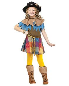 Scarecrow Girls Child Costume - Spirithalloween.com