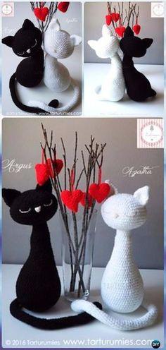 Crochet Amigurumi Valentine Cat Free Pattern - Crochet Amigurumi Cat Free Patterns