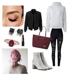 """winter look #1"" by biankaradacovska ❤ liked on Polyvore featuring Le Kasha, LE3NO, Gianvito Rossi, Michael Kors, Avon and NARS Cosmetics"