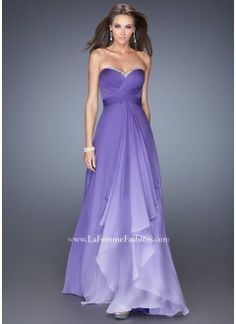 La Femme 19686 Majestic Purple Dress Website Special