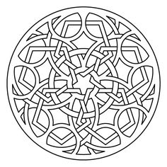 Celtic knot-work lute rosette pentagonal by Peter Mulkers