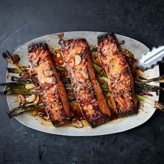 Broiled Salmon with Scallions and Sesame Recipe- rave reviews from Sara