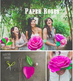 DIY giant paper roses   http://greenweddingshoes.com/diy-giant-paper-rose-flower/  photos:  http://studiocastillero.com/