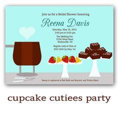 fondue party invite