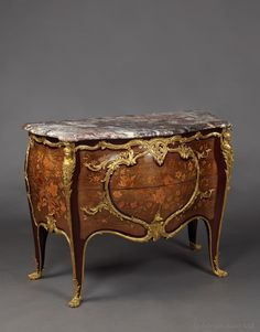 JOSEPH-EMMANUEL ZWIENER (c.1848-1895)  A Fine Louis XV Style Gilt-Bronze Mounted Marquetry Commode