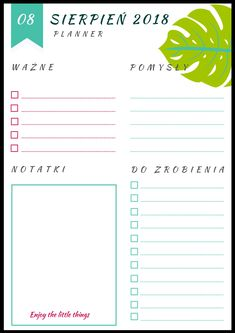 24 best planner do pobrania images on pinterest organizers planner na sierpie ccuart Image collections