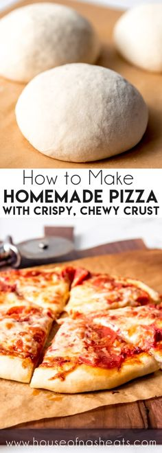 This is the BEST homemade Pizza Dough recipe for a crispy and chewy crust with great flavor. It's the perfect base for your favorite pizza toppings! Best Pizza Dough Recipe, Italian Pizza Dough Recipe, Pizza Recipe For Kids, Dominos Pizza Crust Recipe, Pioneer Woman Pizza Dough Recipe, Recipes With Bread Dough, Pizza Recipe Easy, Bread Flour Recipes, Food Dinners