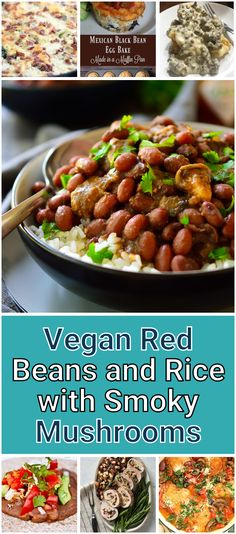 Vegan Red Beans and Rice with Smoky Mushrooms. This vegan red beans and rice with oyster mushrooms recipe is a filling meal packed with flavour and made with simple inexpensive ingredients. Diabetic Rice, Diabetic Recipes, Healthy Recipes, Rice Recipes, Oyster Mushroom Recipe, Mushroom Recipes, Red Beans, Convenience Food, Cooking Classes