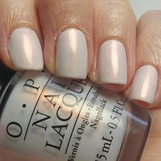OPI  Oh My Majesty! From Alice Through the Looking Glass collection.  Grey toned white with an opal pinkish sheen/shift. Very different from anything else I have. Three coats. Only one from the collection I was interested in.Glad I picked it up.