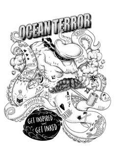 Ilustração desenvolvida para linha de estampas da Tattoaria.Compre a sua!http://store.tattoaria.com.br/masculino-ct-b456e