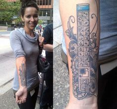 """This tattoo is not Photoshopped - it IS Photoshop! Megan Orsi is """"the girl with the Photoshop tattoo."""" The web designer started using Photoshop in middle school, and just recently got the toolbar inked on her arm. Tool Tattoo, Fan Tattoo, Get A Tattoo, Tattoo Ink, Photoshop Tattoo, Cool Photoshop, Photoshop Design, Geeks, Body Art Tattoos"""