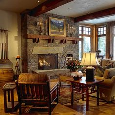 Beautiful Rustic Family Room