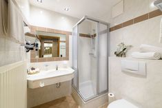 Badezimmer in den Zimmern - B&B Hotel DIE BERGQUELLE Breakfast Hotel, Alcove, Bathtub, Bathroom, Bed Rest, Cosy Room, Full Bath, Standing Bath, Washroom