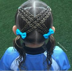Ideas braids with weave for kids simple # simple Braids with weave . Soccer Hairstyles, Baby Girl Hairstyles, Princess Hairstyles, Party Hairstyles, Cute Hairstyles, Beautiful Hairstyles, Hairdos, Hairstyle Ideas, Gymnastics Hair