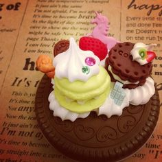 Sweet deco Mirror cookie Polymer clay  MR006 by SweetieTiny, $7.99