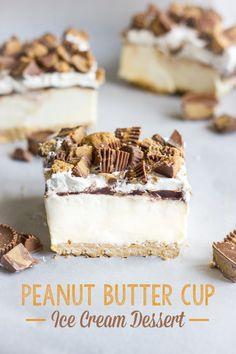Peanut butter cup ice cream bars