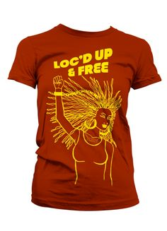 Your hair may be loc'd up you are free to live a life not restricted by your hair...celebrate that freedom cause you broke the chain!    100% preshrunk cotton fitted tee    Please note this is a fitted tee so sizes may run small    Shirt illustrated by Tajah Gaines at Enosa Design www.enosadesign...