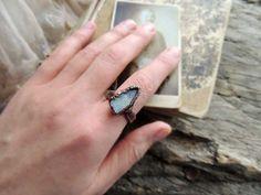 Moon stone ring blue size 10 US  mariaela gemstone by MARIAELA