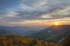 Sunset at Blackrock Mountain Shenandoah National Park Photograph