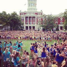 Bid Day at University of Missouri #AlphaDeltaPi