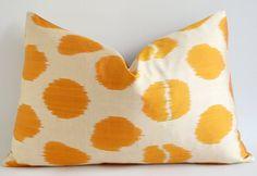 Sale ikat pillow yellow  pillow cover ikat  throw pillow by sukan