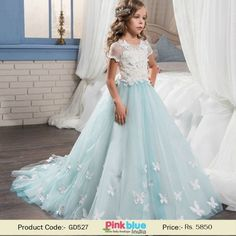 d152af52e33c Birthday Dress for Teenage Indian Girls 10-16 Years | Butterfly Wedding  Flower Girl Dress