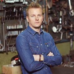Wrangler denim shirts as chosen by Kimi Raikkonen available at www.jeanscene.co.uk #jeanscene #wrangler #kimiraikonnen #formulaone #denimheads #denimshirt