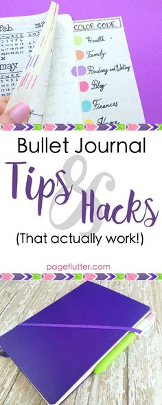 Bullet Journal Hacks That Actually Work | http://pageflutter.com | Easy productivity & organization hacks to improve your bullet journal!