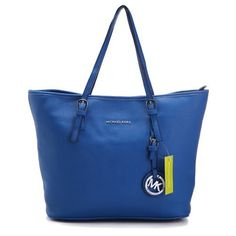 Michael Kors Jet Set Macbook Travel Large Blue Totes Outlet
