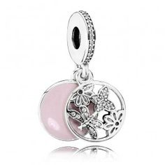 Pandora Sterling Silver Springtime Pendant Charm 791843EN40