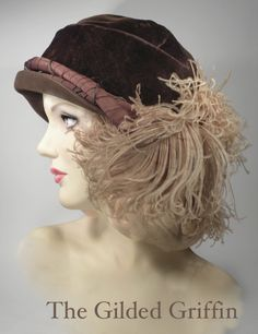 Circa 1925 cloche from my personal collection. I love vintage hats!