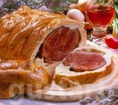 Lajos Mari konyhája - Tésztában sült húsvéti sonka Easter Recipes, Easter Food, Beef Recipes, Pork, Food And Drink, Pizza, Dios, Food, Meat Recipes