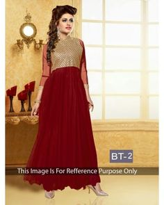 dfc96492b1 Bollywood Inspire Maroon Colour Georgette Party Wear Gown online with Best  Price & Best Quality,Cash on Delivery.