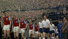 Teams emerge for the '62 FA Cup Final.
